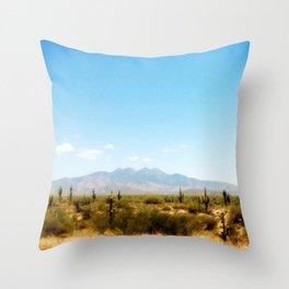 Painterly Southwest Throw Pillow