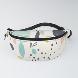 Colourful splotches: modern ink brush strokes with bright colors Fanny Pack