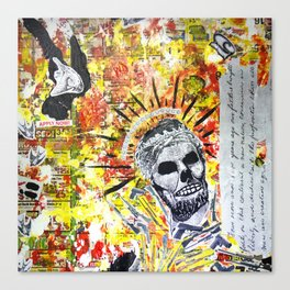 Truth the Fallen King Mixed-Media Collage Canvas Print