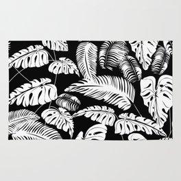 Tropical leaves pattern Rug