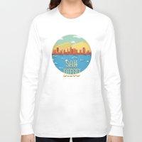 san diego Long Sleeve T-shirts featuring San Diego by Simon Alenius