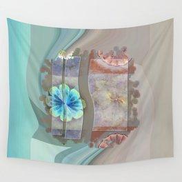 Intercuts Spacing Flowers  ID:16165-035402-83141 Wall Tapestry