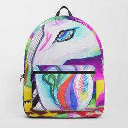 Giraffe & Unicorn on Rainbow Backpack