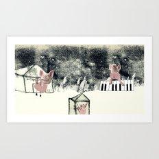 The three little pigs (ANALOG zine) Art Print