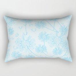 Dandelion Plants, Flower Heads - Pale Blue Rectangular Pillow