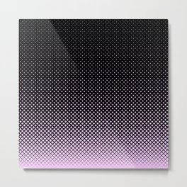 Pink and Black Diamond Pattern Metal Print