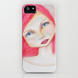 Bella SASS Girl - Rose - SASS = Strong and Super Smart iPhone Case