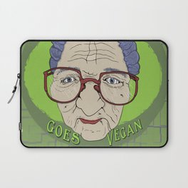 Grandma Goes Vegan Laptop Sleeve