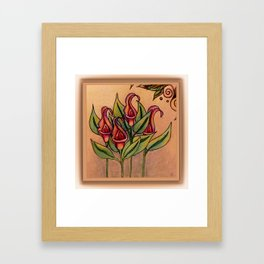 Lilly Dew in Pink Framed Art Print