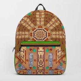 sweet crackers with chocolate mandala Backpack