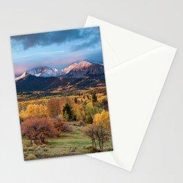 Mt. Sopris Autumn Sunrise Aspen Colorado Fall Rocky Mountains Landscape Stationery Cards