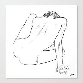 Nude Figure Study Canvas Print