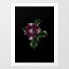 Embroidery Flower Art Print