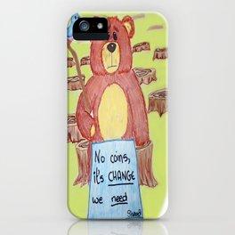 Sad bear & friend iPhone Case