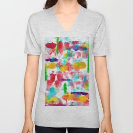 Colourful Abstract Unisex V-Neck