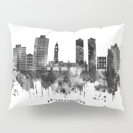 Hoboken New Jersey Skyline BW Pillow Sham
