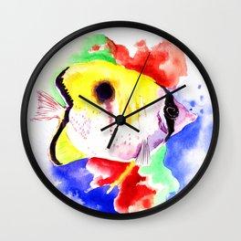 HAwaiian Coral Fish Wall Clock