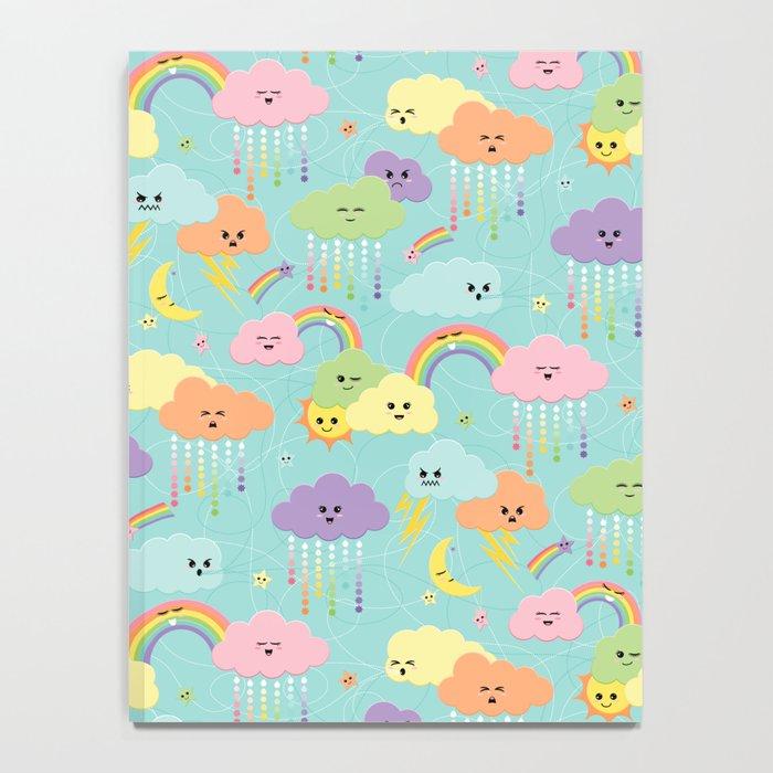 It's Raining Flowers - Kawaii Notebook
