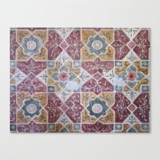 Geometric Wall Pattern Canvas Print