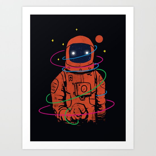 Circles In SPACE Art Print