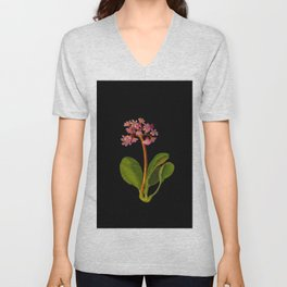 Saxifragia Crassifolia Mary Delany Floral Paper Collage Delicate Vintage Flowers Unisex V-Neck