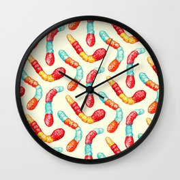 Gummy Worms Pattern  Wall Clock