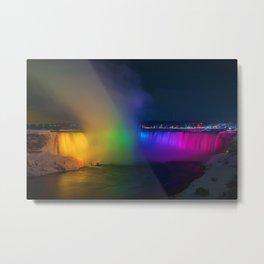 Rainbow Niagara Falls Waterfall (Color) Metal Print