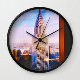 NY, Colored Wall Clock
