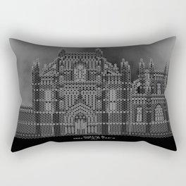 HexArchi - Portugal, Batalha, Mosteiro de Santa Maria da Vitória . Igreja e Capela do Fundador Rectangular Pillow
