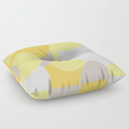 ROUND OF YELLOW Floor Pillow