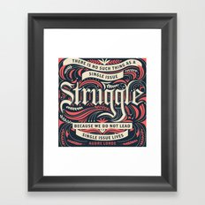 Audre Lorde Quote Framed Art Print