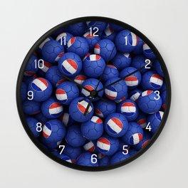 FRANCE FOOTBALLS Wall Clock