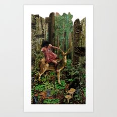 Deerlove | Collage Art Print