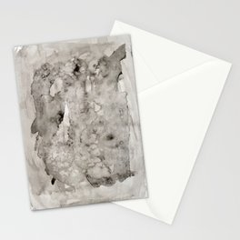 Abstract Painting Grayscape Stationery Cards
