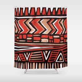 Aztec lino print Shower Curtain