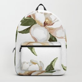 Love Of Nature... Gorgeous Creamy-white Magnolia Flowers Backpack