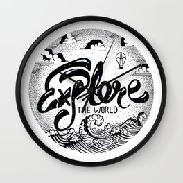 Explore the World Wall Clock