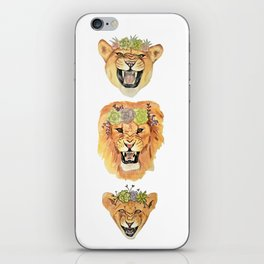 Lion Family (Vertical) iPhone Skin
