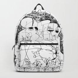 Fear - b&w Backpack