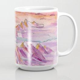 Cascade Dragon - PNW Mountain Range Watercolor Coffee Mug