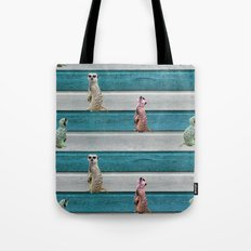 Meercat Beach Stripes Tote Bag