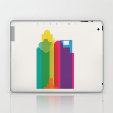 Shapes of Houston. Accurate to scale Laptop & iPad Skin