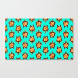 pizza turtle pattern Canvas Print
