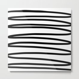 Simple black and white doodle Metal Print