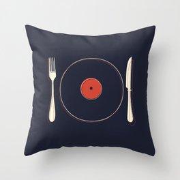 Vinyl Food Throw Pillow