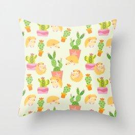 Little Pricks - Orange & Green Throw Pillow