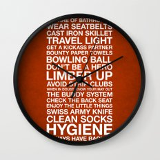Zombieland —The Rules Wall Clock