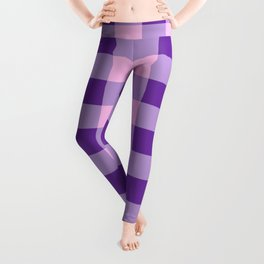 Purple and Pink Check Leggings