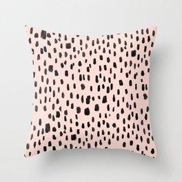 Pink Marker Throw Pillow