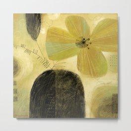 FLOWER & DARK VASE Metal Print